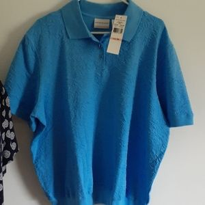 Alfred Dunner nwt shirt deep blue new with tag m